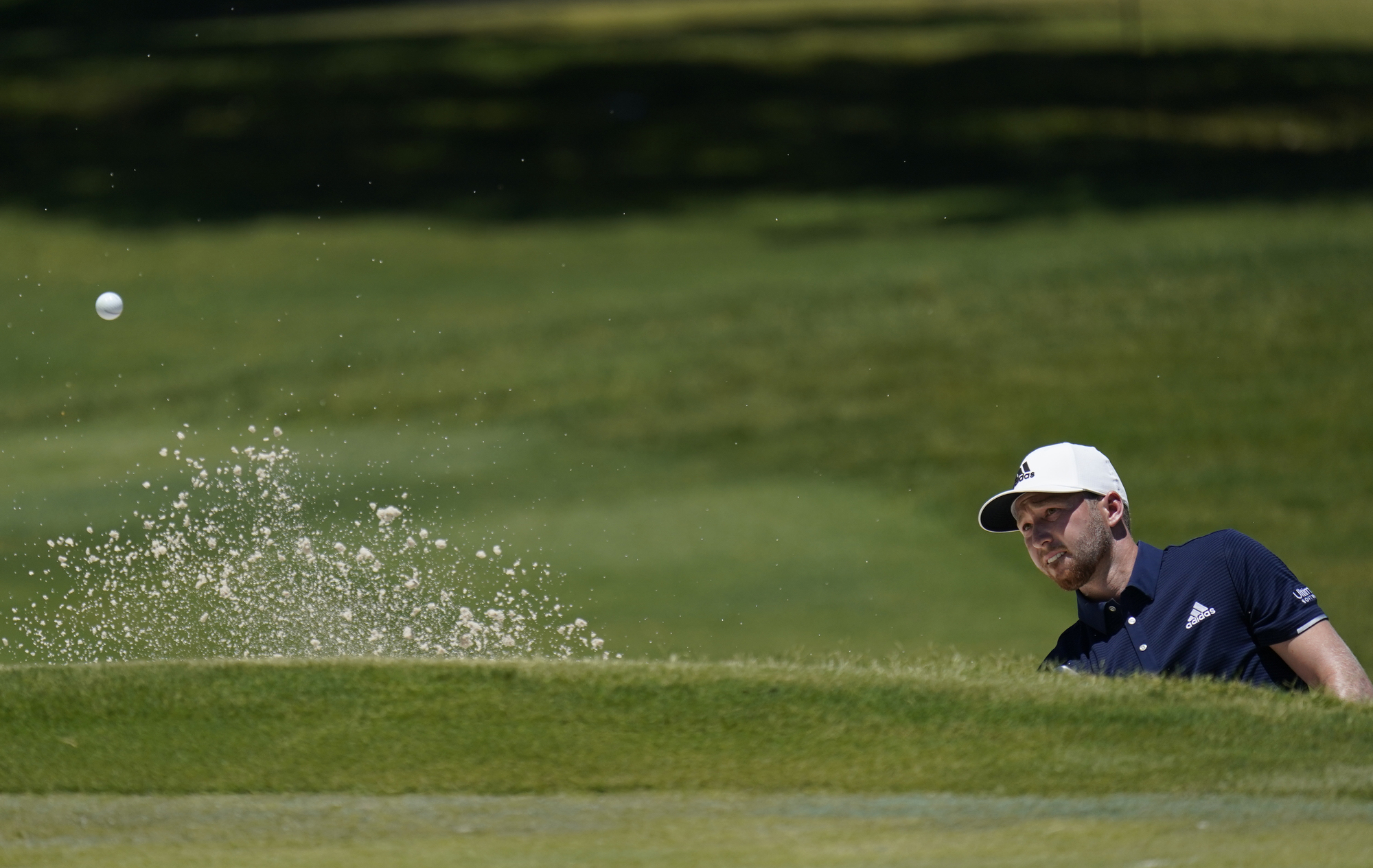 Daniel Berger during the final round of the Charles Schwab Challenge at the Colonial Country Club in Fort Worth on June 14.