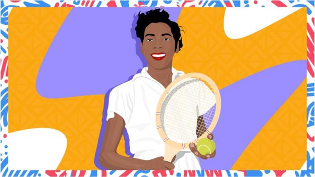 Illustrated image of Althea Gibson