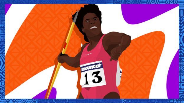 Illustrated image of Tessa Sanderson