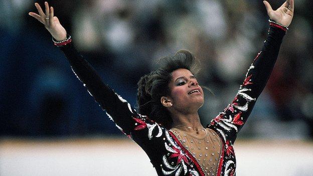 Debi Thomas at the 1988 Winter Olympics