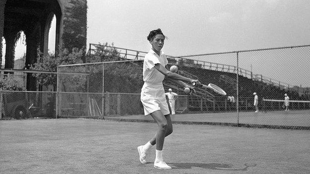 Althea Gibson in 1950