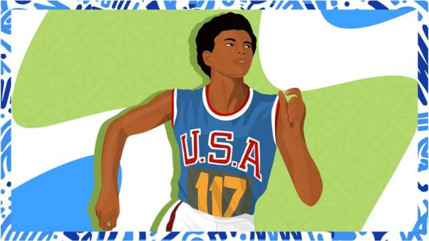 Illustrated image of Wilma Rudolph
